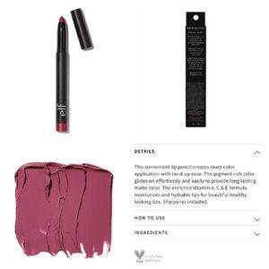 Elf Wine Matte Lip Color & Concealer Brush NEW